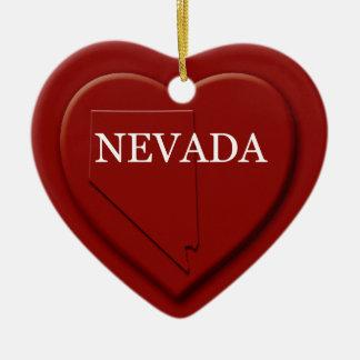 Nevada-Herz-Karten-Weihnachtsverzierung Keramik Ornament