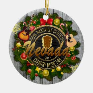 Nevada-Land-Musikfan-Weihnachtsverzierung Keramik Ornament