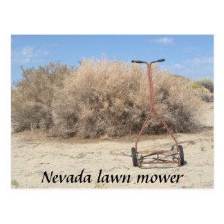 Nevada-Rasenmäher Postkarte