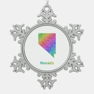 Nevada Schneeflocken Zinn-Ornament