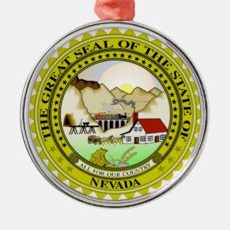 Nevada-Staats-Siegelamerika-Republiksymbolflagge Silbernes Ornament