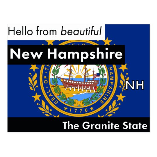 New Hampshire der Granit-Staat Postkarte