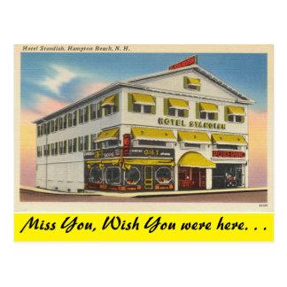 New Hampshire, Hotel Standish, Hampton-Strand Postkarte
