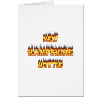 New Hampshire hottie Feuer und Flammen Karte