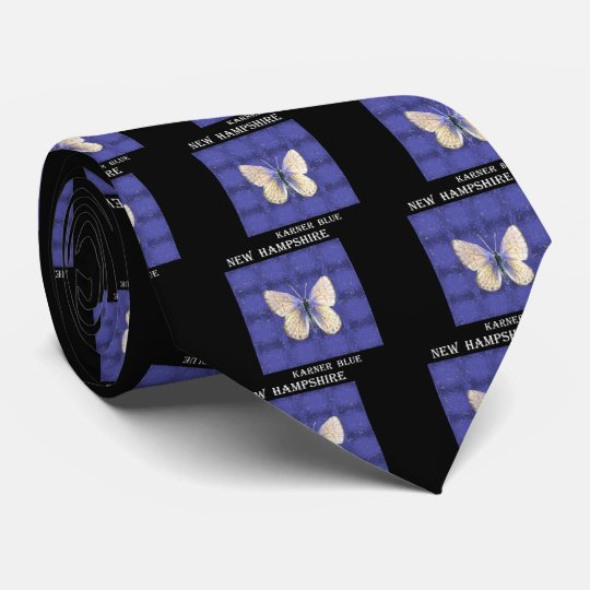 New Hampshire Karner Blau-Schmetterling Personalisierte Krawatten