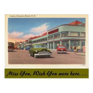 New Hampshire, Kasino, Hampton-Strand Postkarte