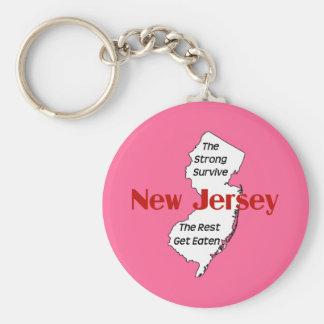 New-Jersey: die starken überleben; die Erholung Standard Runder Schlüsselanhänger