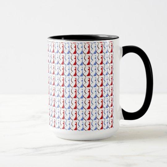 New-Jersey rote, weiße u. blaue Wecker-Tasse Tasse