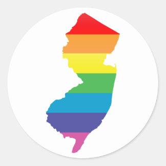 New-Jersey Stolz Runder Aufkleber