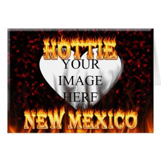 New Mexiko Hottie Feuer und rotes Marmorherz Karte