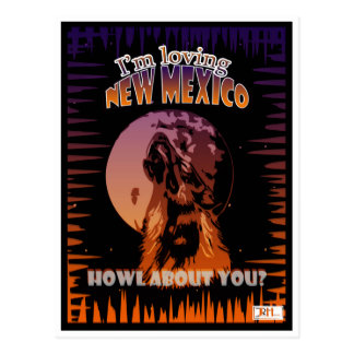 New Mexiko-Wolfheulen/Lobo-Postkarten-Kunst Postkarte