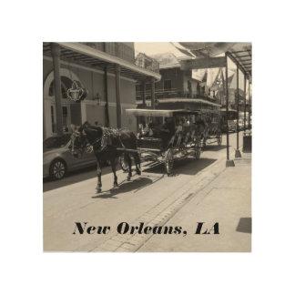 New Orleans, LA Holz-Kunst Holzdruck