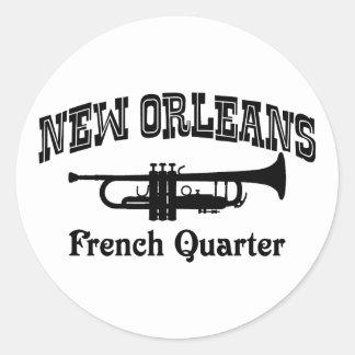 New Orleans Runder Aufkleber