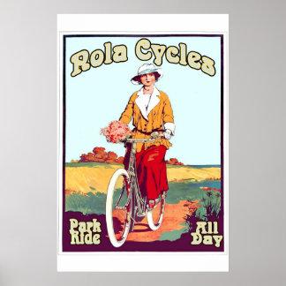 New- Orleansfahrrad-Vintage Art NOLA fährt 2 rad Poster
