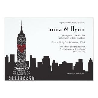 New- York 12,7 X 17,8 Cm Einladungskarte