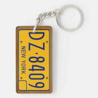 New York 1974 Vintage Lizenz-Platte Keychain Schlüsselanhänger