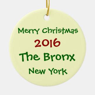 NEW YORK 2016 DIE FROHE WEIHNACHT-VERZIERUNG BRONX RUNDES KERAMIK ORNAMENT
