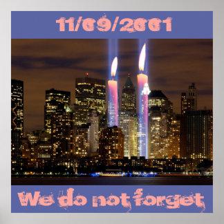 New York City. Am 11. September 2001 Poster