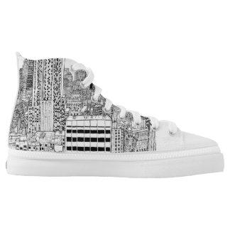 New York City auf Schuhen Hoch-geschnittene Sneaker
