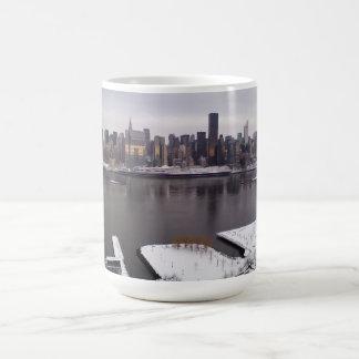 New York City im Winter Kaffeetasse