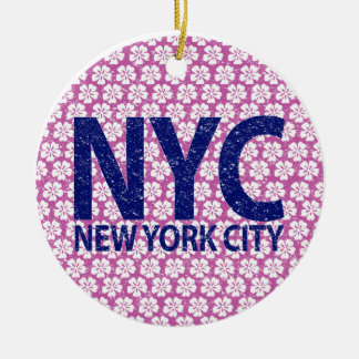 New York City NYC Rundes Keramik Ornament