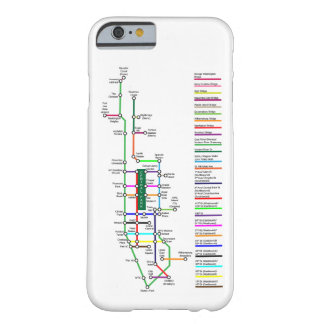 New- York Cityfahrrad-Karten-Smartphone-Fall Barely There iPhone 6 Hülle