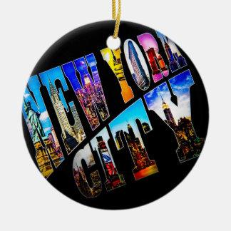 New- York Cityfeiertags-Verzierung Keramik Ornament