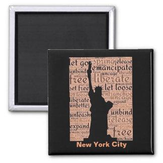 New- York Cityfreiheitsstatue Quadratischer Magnet