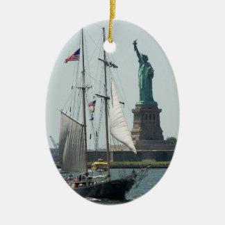 New- York Cityhafen-Reise-Foto Keramik Ornament