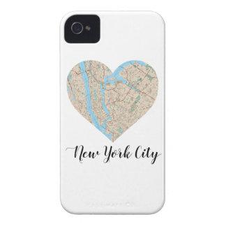 New- York Cityherz-Karte iPhone 4 Hüllen