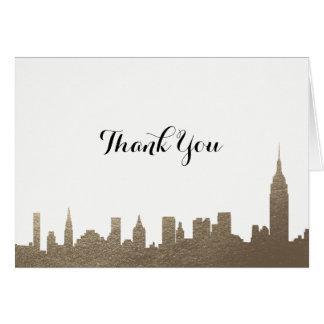New- York CityImitat-Gold danken Ihnen zu Karte