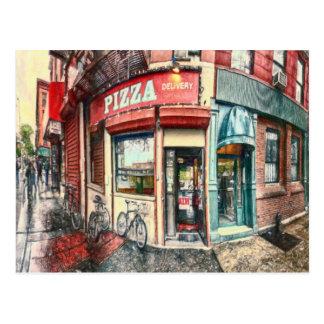 New- York Citypizza-Platz durch Shawna Mac Postkarte