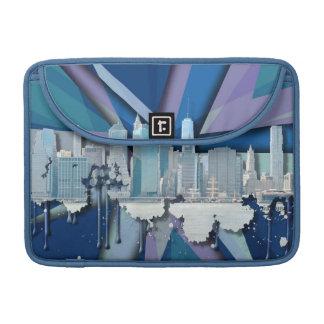 New- York CitySkyline | blaues 3D MacBook Pro Sleeve