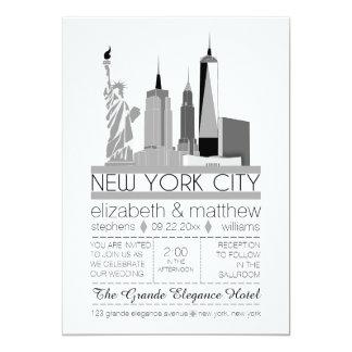 New- York CitySkyline-Hochzeit Karte