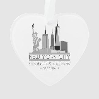 New- York CitySkyline-Hochzeit Ornament
