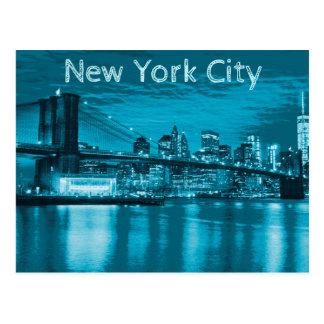 New- York CitySkyline im Blau Postkarte