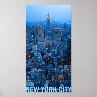 New York Cityskyline-Plakat (Reich-Staat) Poster