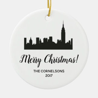 New- York Cityweihnachtsverzierung Keramik Ornament