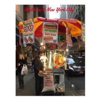 New- York CityWürstchen-Stand-Postkarte Postkarte