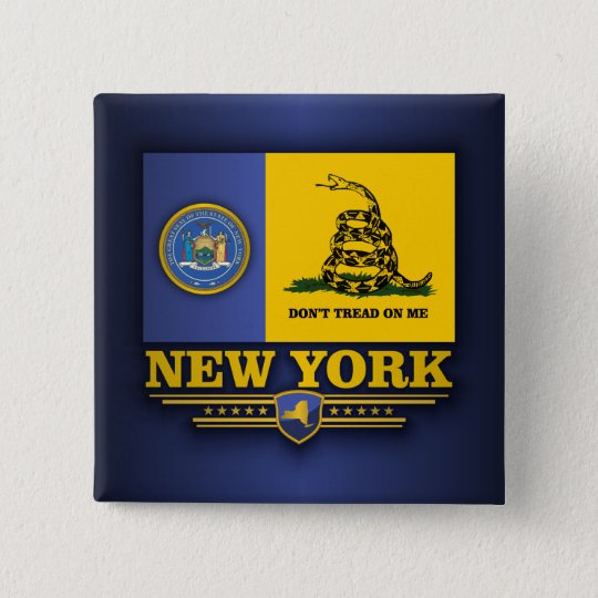 New York (DTOM) Quadratischer Button 5,1 Cm