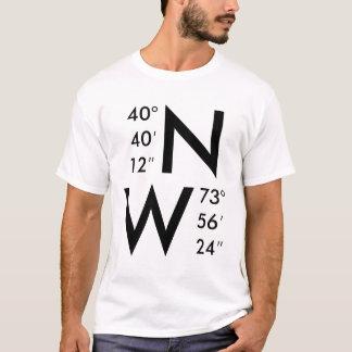 New York GPS koordiniert | ALLE MÖGLICHE T-Shirt
