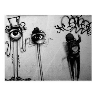 New York: ich spioniere mit meinem kleinen Auge Postkarte