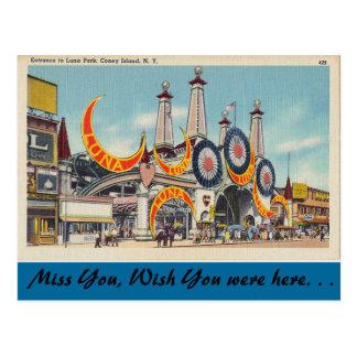 New York, Luna Park, Coney Island Postkarte