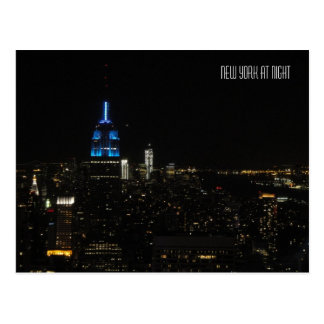 New York nachts Postkarte