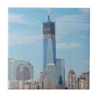 New York, New York. Manhattan-Stadt-Skyline Fliese