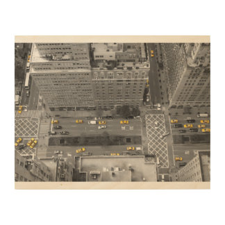 New York NYC cab taxi WoodWall 35,6 x 28 cm Holzdrucke