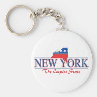 New York patriotisches Keychain Standard Runder Schlüsselanhänger