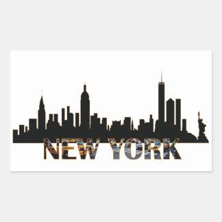 New York Rechteckiger Aufkleber