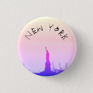 New York Runder Button 3,2 Cm