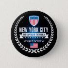 New York Runder Button 5,1 Cm